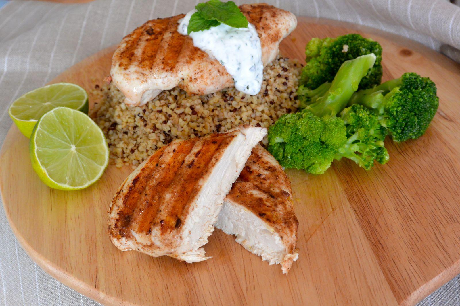 bulgur, salade, zonnatura, quinoa, sesam, recept