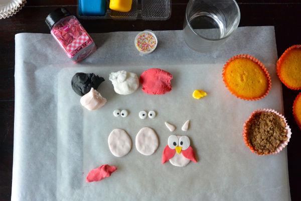 HEMA, cupcakes, versieren, foodness, gezond, cake, uil, roos, rozen
