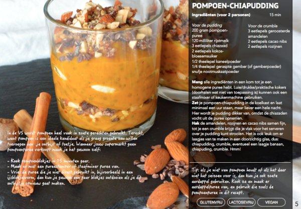 recept, foodness, fastfood, e-book, boek, receptenboek, pompoen, chi, pudding