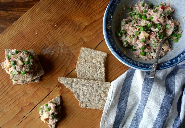 tonijn, tonijnsalade, foodness, recept, gezond, slank, erwtjes