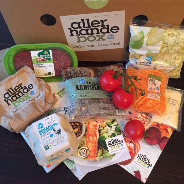 allerhande box, foodness, ingredienten, zalm, pasta, fusilli