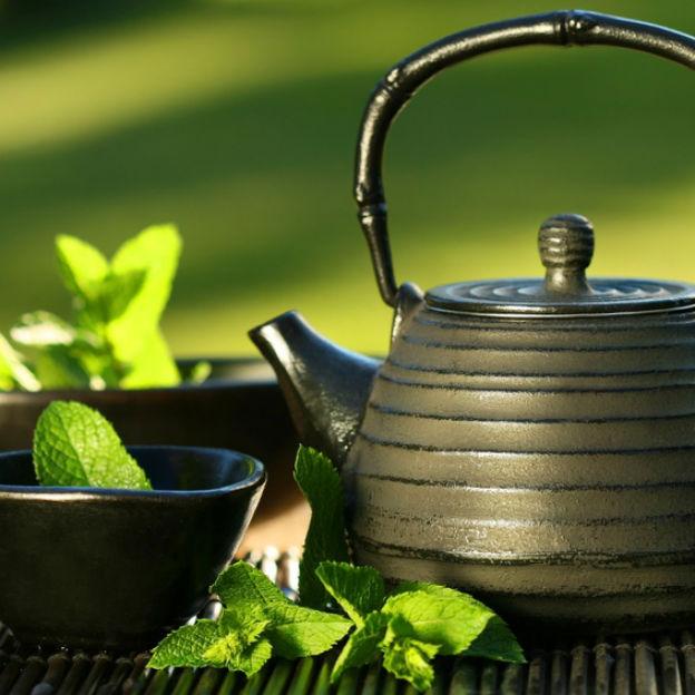 Drink groene thee