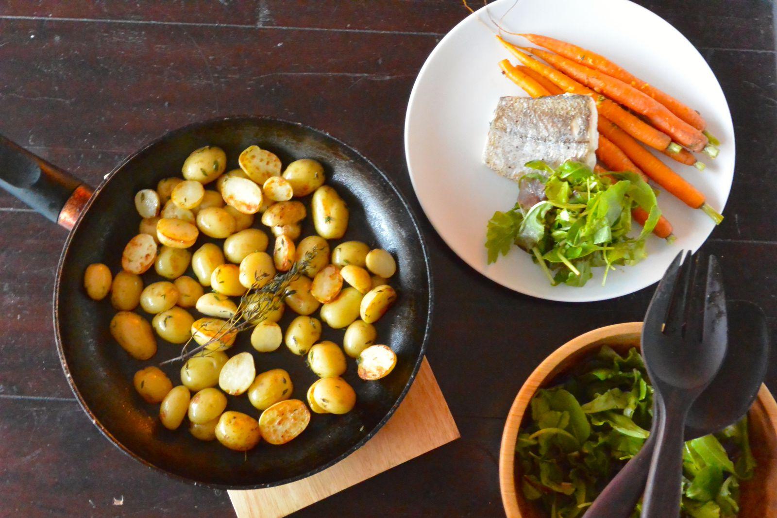 Hellofresh, vis, aardappeltjes, wortel