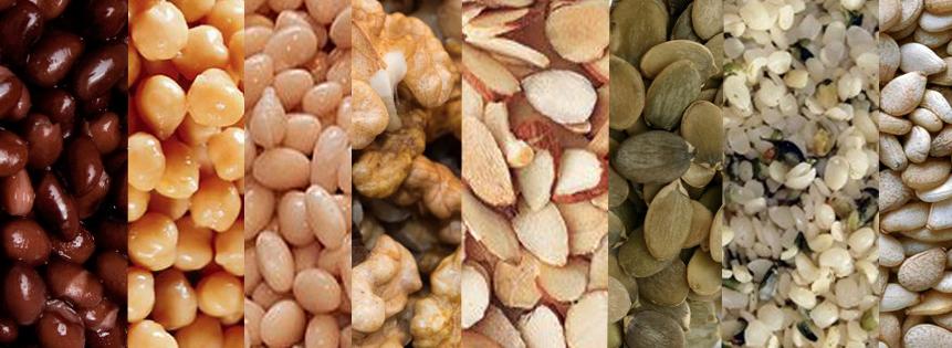 noden, zaden, peulvruchten