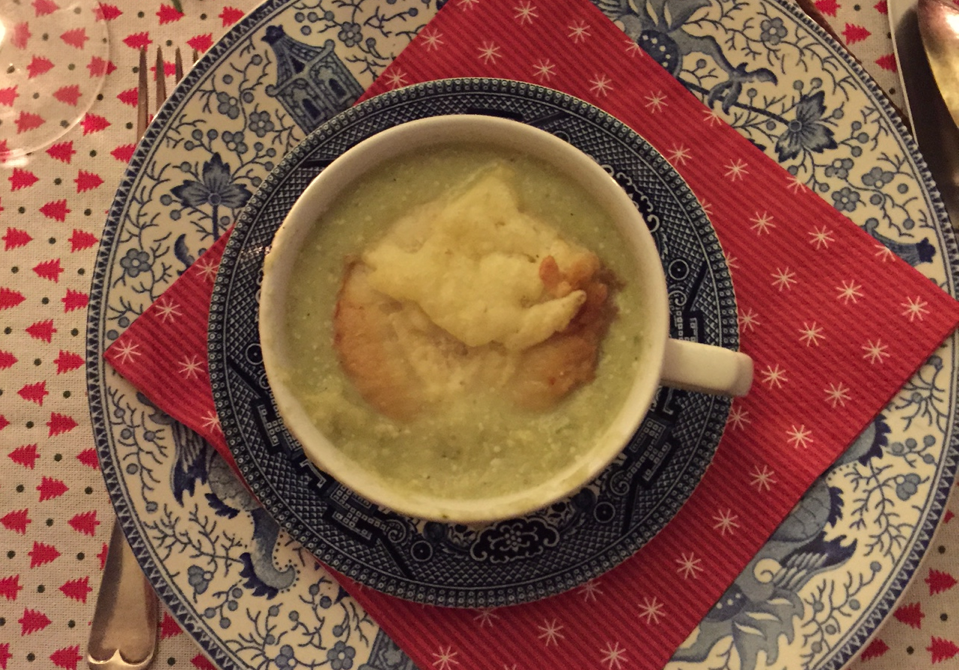 kerst diner, foodblogger, the lion kitchen, parrano, prei, soep, crouton, kaas