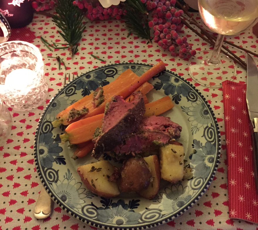 kerst, diner, the lion kitchen, vlees
