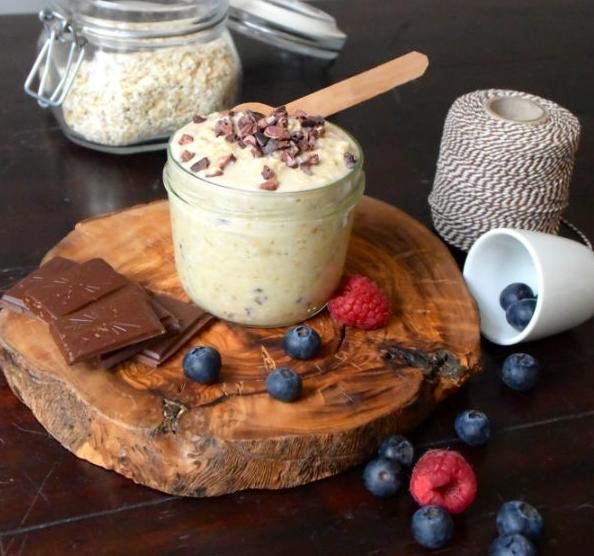 ontbijt, gezond, afvallen, slank, foodness, overnight oats, cookie dough