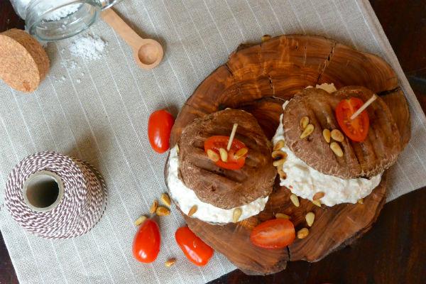 Hüttenkäse, foodness, portobello, burger, paddenstoel