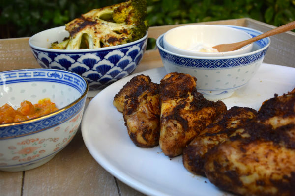 healthy chicken wings, gekruide kippenvleugels, kip, kruiden, foodness