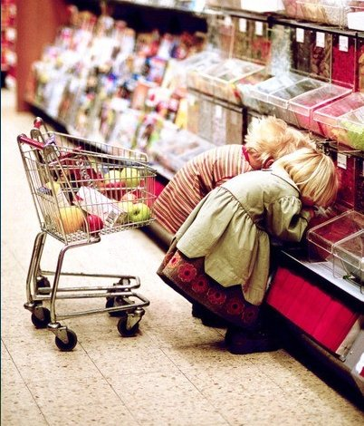 kinderen, supermarkt, misleiding, afvallen