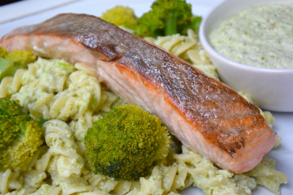 zalm, allerhande, box, foodbox, review, pasta, kappertjes, broccoli