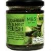 Cucumber, gin & mint relish