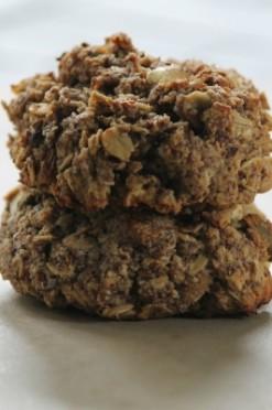 Ontbijtkoekjes met pistache en witte chocolade