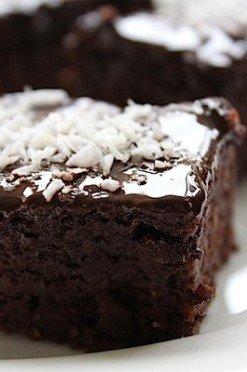 Gezonde brownies van courgette
