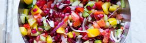 salade granaatappel ui