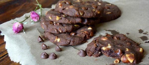 chocoladekoekje met teffmeel