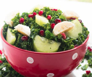 Boerenkool salade granaatappel