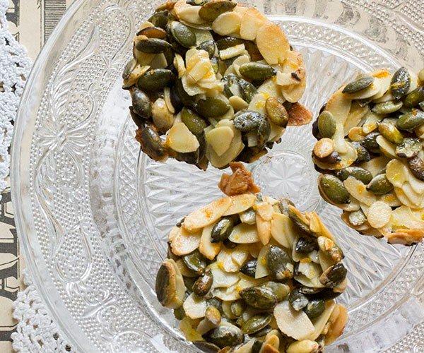 sinaasappel amandel pompoenpitjes koekjes