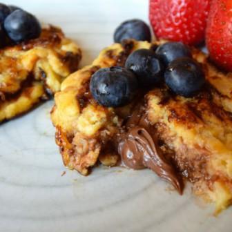 Nutella banaan ei pancakes