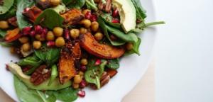 winterse salade met gegrilde groente