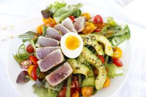tonijnsalade met verse tonijn