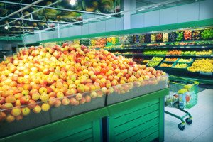 Fruits in grocery store