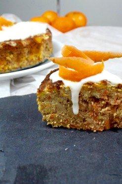 Slanke(re) carrot cake met amandelmeel (glutenvrij & lactosevrij)