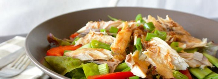 Super healthy lunch: salade met makreel en gemberdressing