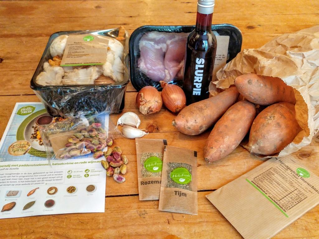 Winnaar van mijn tv-jury-debuut: kippendij met paddenstoel, pistache & zoete aardappel