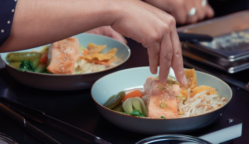 Gestoomde Oosterse zalmfilet met miso en zalmdumplings | Miele-kookchallenge