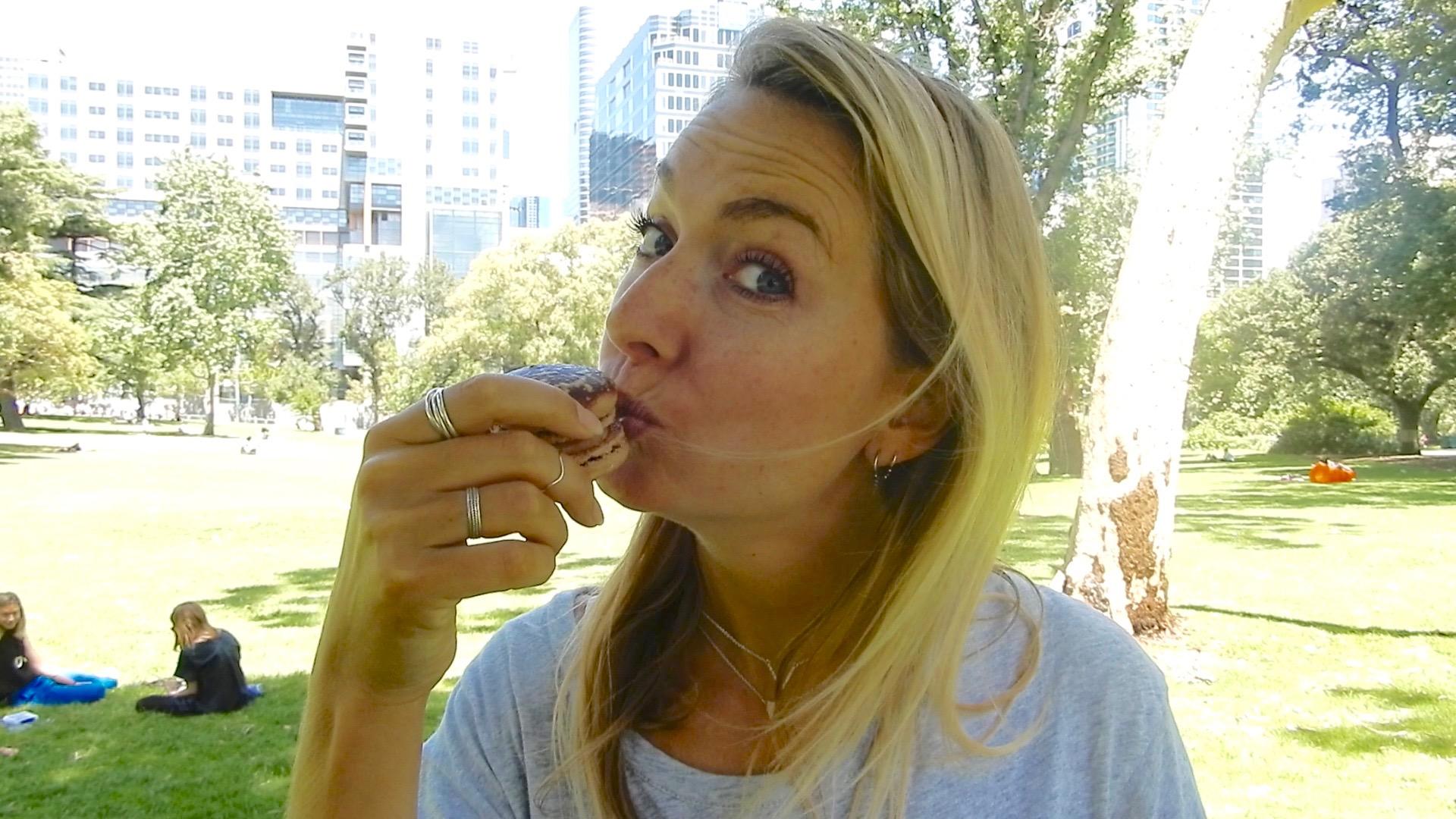 What I eat in a day in Melbourne (#4): Hostelontbijt & 'Egg Sundae'