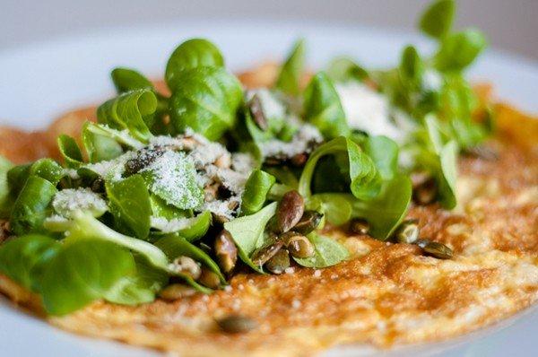 calorie arme lunch van omelet