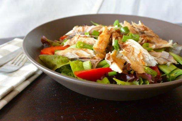 calorie arme lunch met makreel