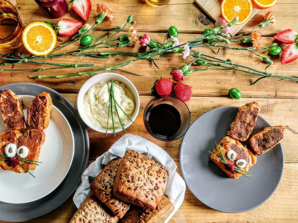 Pimp je Paasbrunch: Paashaas wentelteefjes van suikerbrood