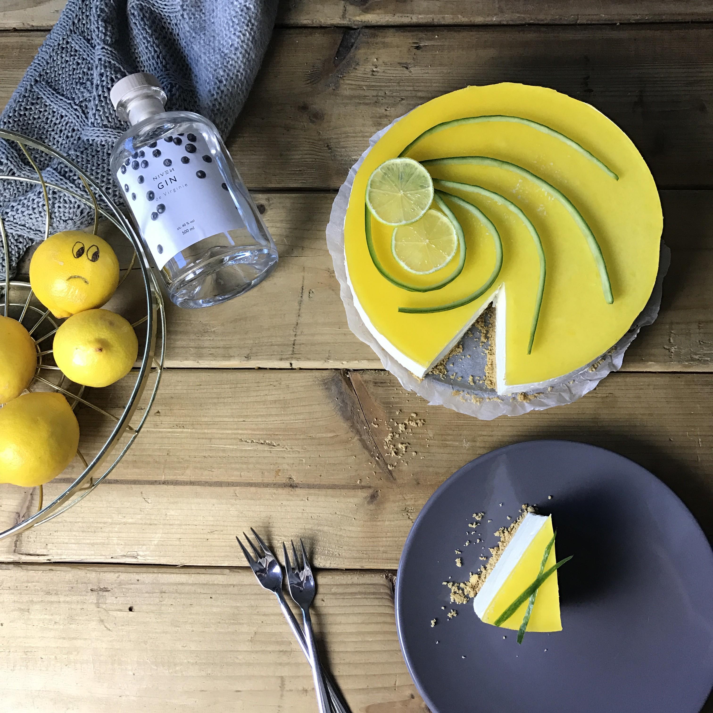 Taartje van Claartje #14: Gin Tonic cheesecake (skinny variant)