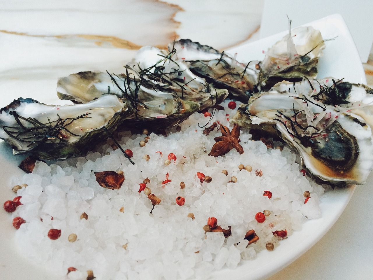 oesters als romantische hapjes