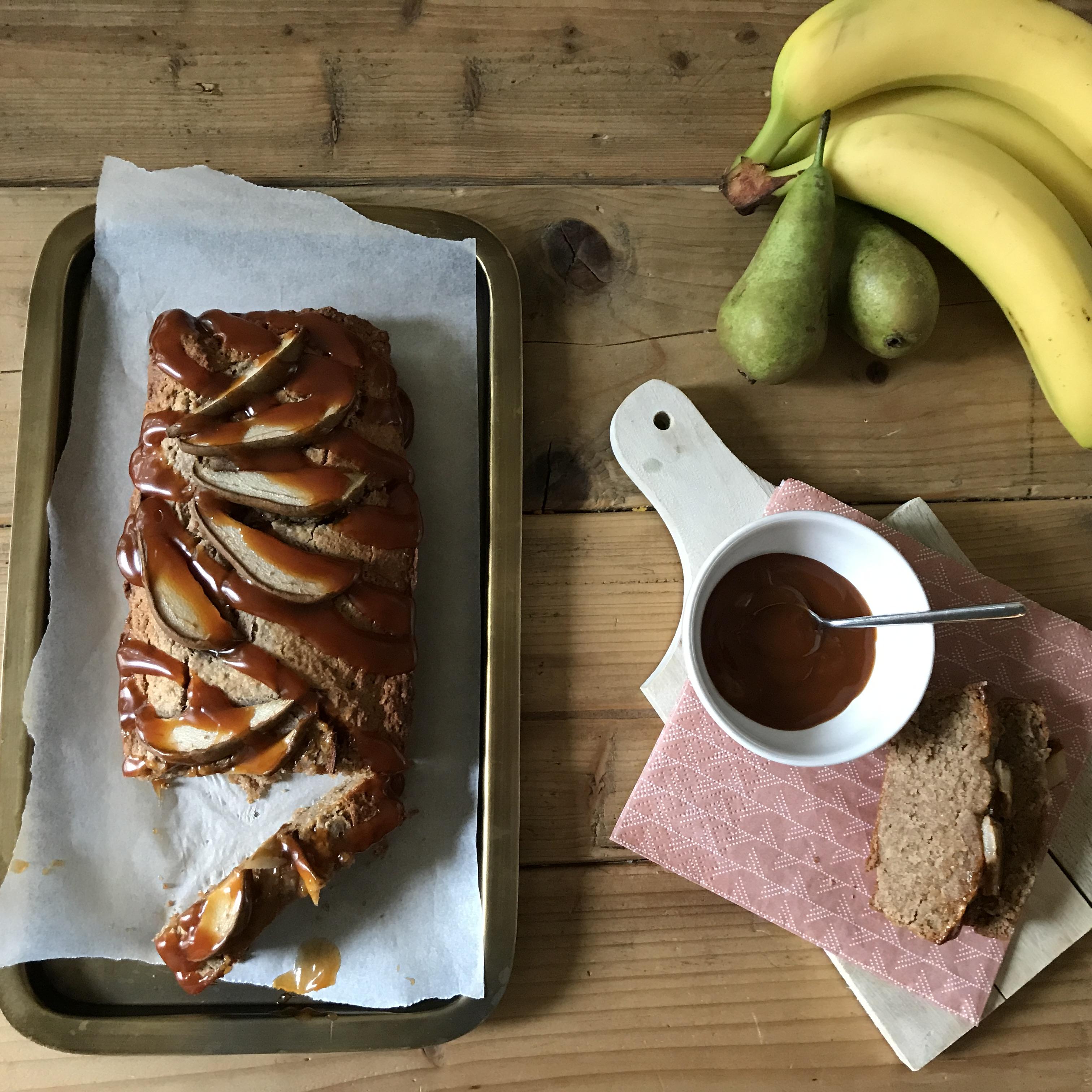 Bananenbrood van speltmeel, amandelmeel en peer - Taartje van Claartje #15