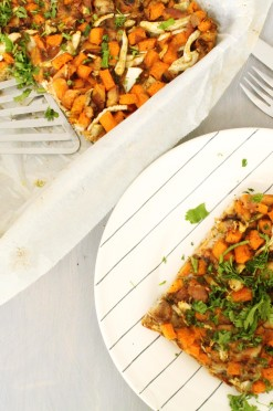 Frittata met kip & zoete aardappel