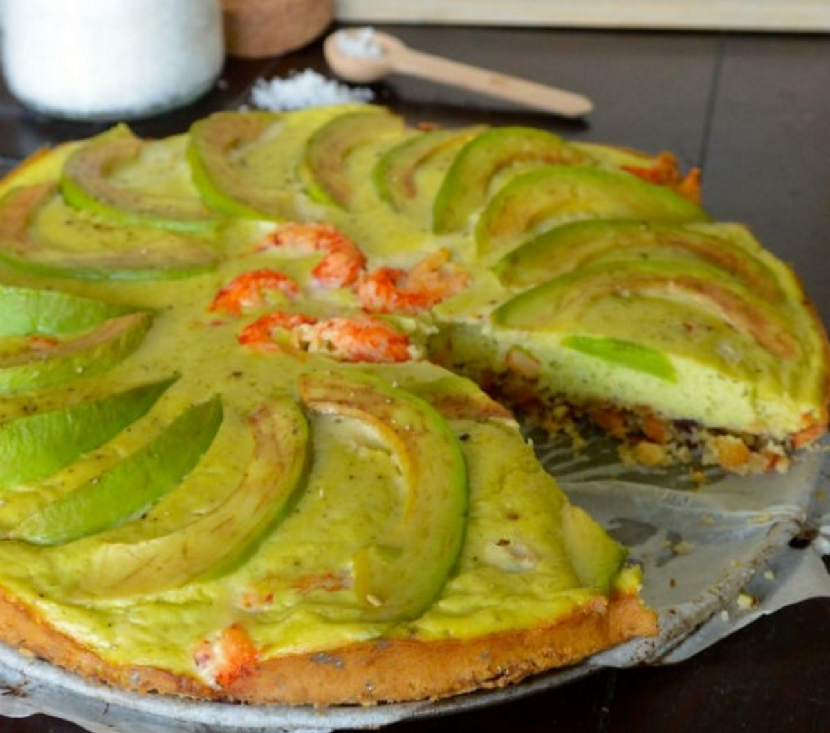 Avocado quiche