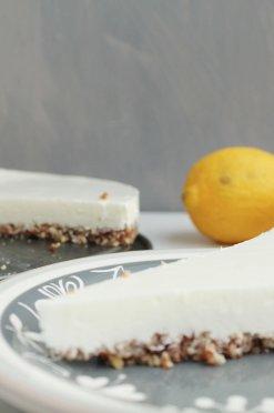 Suikervrije citroen-kwarktaart