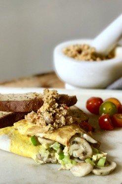 Glutenvrije lunch: Omelet met brood & kokossambal uit Sri Lanka