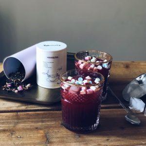 Pink TEAmwork Mermaid Tea cocktail met wodka en bietensap