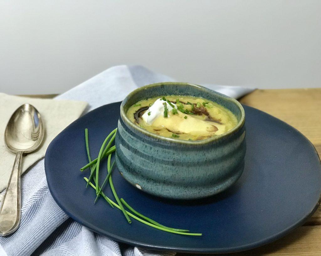 Vega pastinaaksoep met Oostenrijkse pastakussentje: Zillertaler krapfen