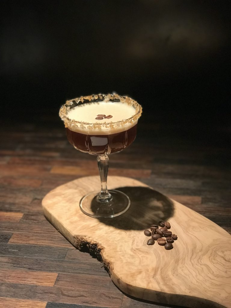 Salted caramel espresso martini - cocktail o'clock!
