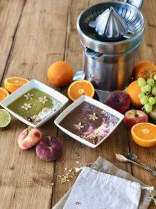 Perfecte gezonde smoothie in 4 stappen: groente + fruit + vloeistof + topping