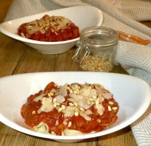 Vega pasta bolognese met paddenstoelen ipv vlees