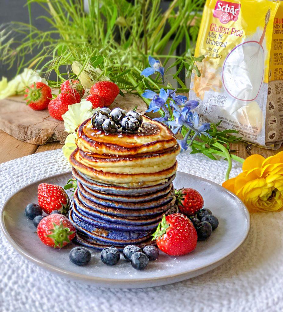 American pancakes 'ombre' | Glutenvrij bakken - Foodness.nl
