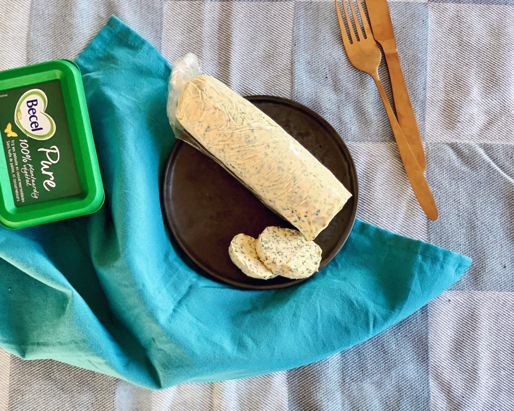 Stamppot met prei, amandelen & homemadevegan kruidenboter | Vegan dinner