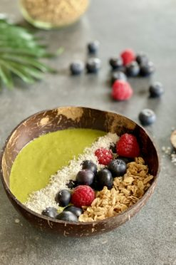 Smoothie bowl met superfood paddenstoelen
