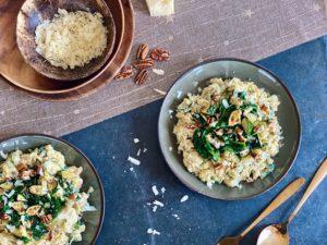 Romige orzo met spinazie en grana padano   Pasta! - Foodness.nl
